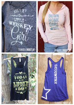 i ❤ ❤ the southern charm of these TUMBLEROOT tees & tanks!! soooo country casual and greek girl friendly! very stagecoach ready….    http://www.tumbleroot.com