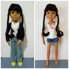 "BFC Ink Doll OOAK 2 Outfits Best Friends Club 18"" Green Eyes Black Hair Braids by FreshStartDolls on Etsy https://www.etsy.com/listing/474382538/bfc-ink-doll-ooak-2-outfits-best-friends"