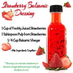 Tasty Thursday – Strawberry Balsamic Dressing - Fitness For Women by Flavia Del Monte
