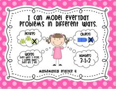 Super cute MP Posters and they are free! Common Core Math Practice Standards Posters
