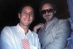 """""""I took this at Live Aid. Pete loved it so much, he asked me for it after John died."""" — with Maxene Harlow. Great Bands, Cool Bands, John Entwistle, Keith Moon, Teenage Wasteland, Live Aid, Vintage Concert Posters, Pete Townshend, Roger Daltrey"""