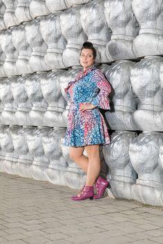 "Volant-Kleid aus Jersey ""Winter""  von den Zwirnpiraten. Schuhe: Deerberg Winter Typ, Shoulder Dress, Dresses, Fashion, Curvy Women, Fabrics, Curve Dresses, Nice Asses, Vestidos"