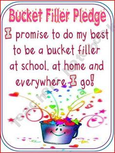 Bucket Filler Pledge Sign
