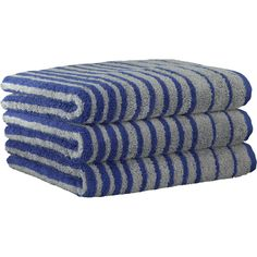 Cawö Handtücher Shades Querstreifen 598 blau - 17