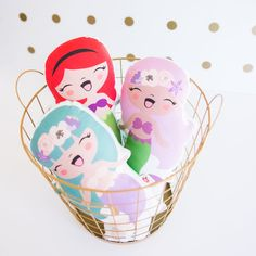 Pocketswithposies — Mermaid Pillow Doll