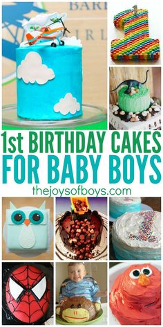 If you are planning a 1st birthday party for your baby boy, you will love these first birthday cakes for baby boys.