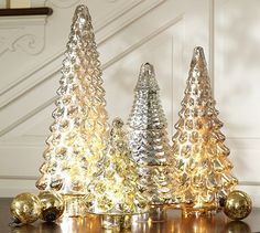 Silver Mercury Glass Trees #potterybarn each price - up-to 80 to 90% off now, Pls order now.