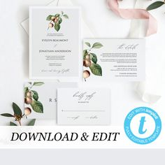 Rustic Wedding Invitation Template, Rustic Wedding Invite, Country Printable Wedding Invitation DIY Templett PDF Instant Download Editable by PearlyPaperDesign on Etsy https://www.etsy.com/se-en/listing/594170122/rustic-wedding-invitation-template