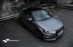 https://flic.kr/p/Bghuk1   Audi A1 Satin grey/black full wrap   Full wrap from red to 3M Satin dark grey with satin black detailing by Monsterwraps.co.uk