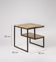 Swoon Editions Side table, Mid-century style in mango wood - Loft Furniture, Iron Furniture, Small Furniture, Industrial Side Table, Wooden Side Table, Wood And Metal Desk, Architecture 3d, Mid Century Modern Furniture, Swoon Editions