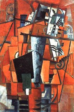The lady at the piano, Kazimir Malevich Date: 1913 Style: Cubo-Futurism Kandinsky, Bauhaus, Kazimir Malevich, Russian Avant Garde, Action Painting, Russian Art, Canvas Art Prints, Figurative Art, Modern Art