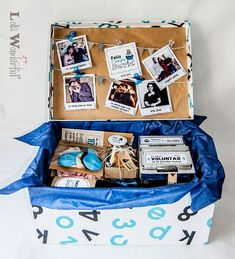DIY Personalized Gift Baskets DIY Personalized Gift Basket For Anyone, Girlfriend, Kids, Mom Etc - Owe Crafts Birthday Gifts For Best Friend, Best Friend Gifts, Birthday Presents, Bf Gifts, Boyfriend Gifts, Cute Gifts, Personalised Gifts Diy, Birthday Box, Original Gifts