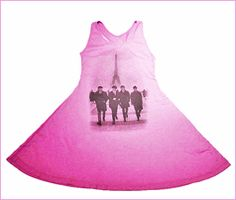 Pink Beatles in Paris Girls Racerback Dress by Trunk Kids $42