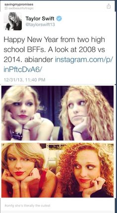 Taylor posted this on IG tonight so her and Abigail were together for New Years and it makes me so happy!! :D