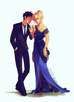 Percy and Annabeth!