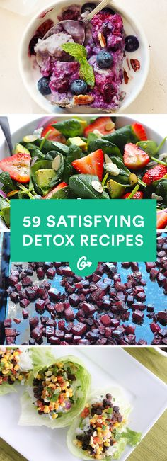 59 Detox Recipes (That Actually Contain Food) #detox #recipes http://greatist.com/health/new-year-detox-recipes