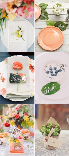 20 Cute Ways to Present Place Cards for Your Summer Wedding