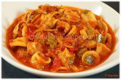 Yes, I Du-kan!: Calamares con salsa de verduras