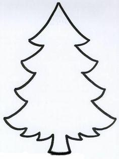 Silueta árbol de Navidad.