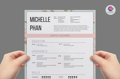 Elegant 1 page CV template by Chic templates on @creativemarket