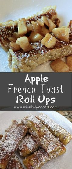 Apple French Toast Roll Ups is an easy weekend breakfast or after school snack. Click through for the recipe http://wp.me/p3sX9D-1Lc