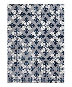 Love this KAS Rugs Gray & Blue Mosaic Rug by KAS Rugs on #zulily! #zulilyfinds