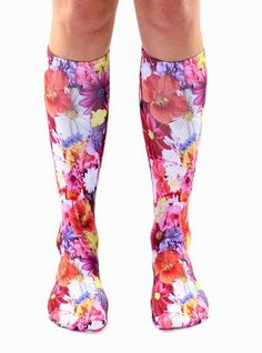 Flower Knee High Socks
