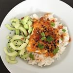 Foooood! Lekker verder op de Aziatische Tour met kokosrijst, kabeljauw met Sriracha-Cassave korst en komkommer-sesamsalade. #foodie #food #foodpic #ohmyfoodness #foodofinstagram #nevernoteating #sogood #nomnom #foodporn #healthyfood #asianfood #soononline