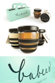 Stunningly clean and beautiful packaging and branding for Babees Honey by Polish design studio, Ah&Oh