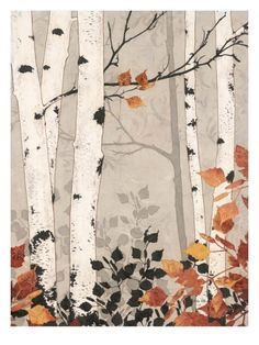 Birch Damask Giclee Print by Melissa Pluch at Art.com