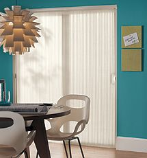 """Bali Solitaire 3/8"""" Single Cell Vertical Cellular Shades"""
