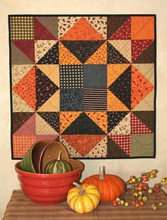 Have made this - super fast and easy!  If you know your half square triangles, you can make this any size you need. (Without a pattern)
