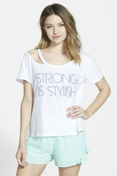 Boy Meets Girl | 'Strong Is Stylish' Deconstructed Graphic Tee (Juniors) | Nordstrom Rack