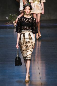 Engineered scenic  Dolce and Gabbana Spring 2014