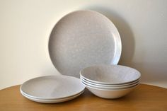 Poole Pottery Twintone Mid Century by InteriorComponents on Etsy : poole pottery dinner plates - pezcame.com