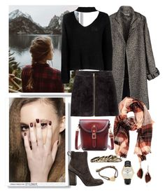 """""""sweater weather"""" by juliabartyzel ❤ liked on Polyvore featuring Jean-Paul Gaultier, Urban Renewal, Dolce Vita, Boohoo, Chloe + Isabel, Casio and Pieces"""