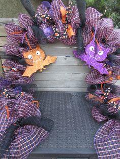deco mesh garland halloween deco mesh garlands bats thanksgiving - Deco Mesh Halloween Garland