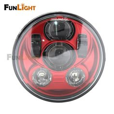 Find More Headlights Information about Free shipping New 5.75 inch Red LED headlight For Harley Sportster XL 883 1200 Dyna motos,High Quality led headlight conversion kit,China led headlight Suppliers, Cheap led mkv from Car Light Fun Light Store on Aliexpress.com