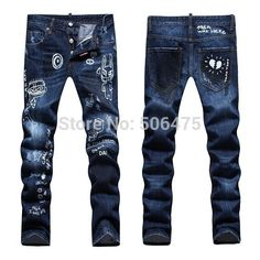 Find More Jeans Information about Sale 2015 New Newly fashion DSQ Brand Men's Jeans Denim Cotton dark color Jeans Blue Popular casual cozy Straight men's D2 Jeans,High Quality jeans snaps,China jeans jeans jeans shop Suppliers, Cheap jean size from H&T  --  HOT AND TOP JEAN on Aliexpress.com