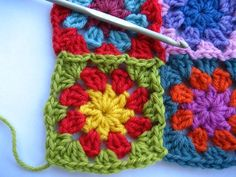 I've been making granny squares for eighteen months now and in that time I've made a great many for blankets and cushions, all of which have been joined together after the squares themselves have been made. Then a few weeks...