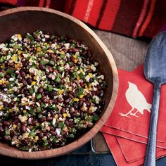 Black Bean & Quinoa Salad // More Healthy Recipes: http://www.foodandwine.com/slideshows/healthy-main-dishes #foodandwine