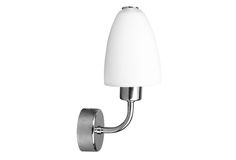 AQUATIC Bathroom Light-option-2 Material: metal Surface color: chrome / glass Dimensions: 115 x 225 x 125 Mounting: wall mounting Light source: incl. 1xE14 40W Number of light points: 1 Power: 40W IP: IP23 For mounting on flammable surfaces: Yes Nr. Glass spare: G182 / 6 CE Certificate: Yes
