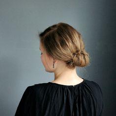 Haare eingerollt Frisur einfach