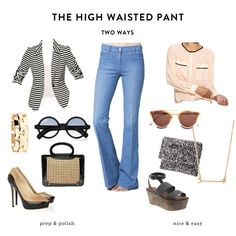 two ways with the high waisted pant
