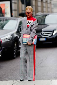 Ciao Milano! The Best Style From The Streets - HarpersBAZAAR.com #streetstylefashion,