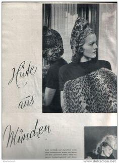 Hüte aus München, Der Hut - Rahmen des Antlitzes /  Druck, entnommen aus Modezeitschrift / 1942