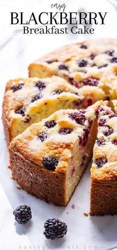 Strawberry Breakfast, Blackberry Recipes Breakfast, Blueberry Breakfast Cakes, Blackberry Dessert Recipes, Fruit Recipes, Desert Recipes, Cupcake Recipes, Beef Recipes, Breakfast Recipes