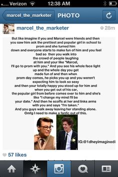marcel imagines kill me and yes omg make a fic of this