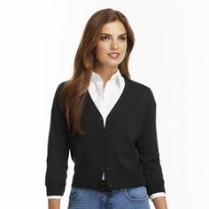 Chaps Solid Cardigan