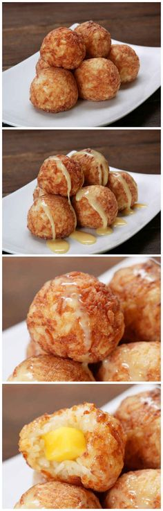 Fried Sticky Rice Mango Balls